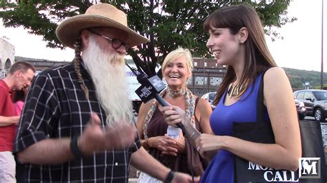 zz top fan on the carpet with zz top fans at musikfest