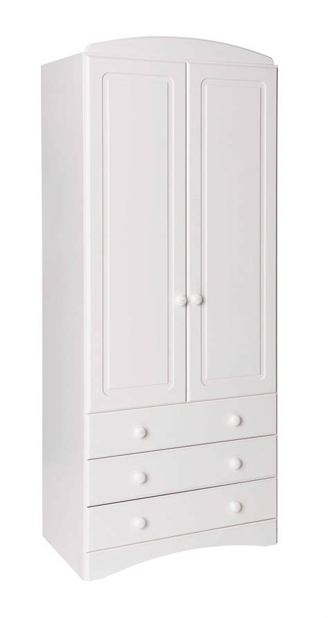 White 2 Door Wardrobe With Drawers by Scandi White 2 Door 3 Drawer Wardrobe Oak Furniture