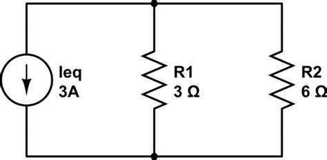 resistor and current source in parallel calculating current through resistor electrical engineering stack exchange