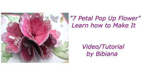 how to make pop up flower card 7 petal pop up flower card templates and tutorials
