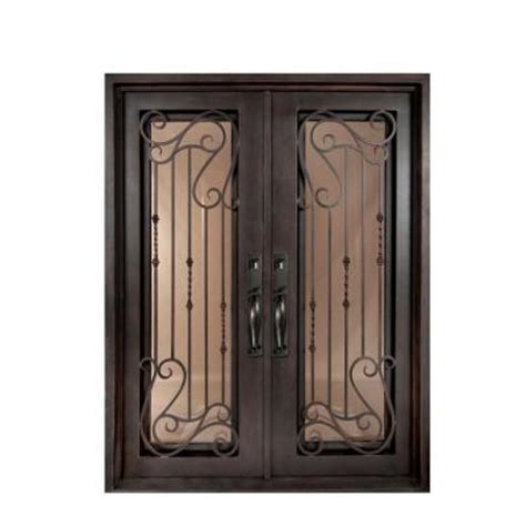 home depot wrought iron paint iron doors unlimited 74 in x 98 in armonia classic