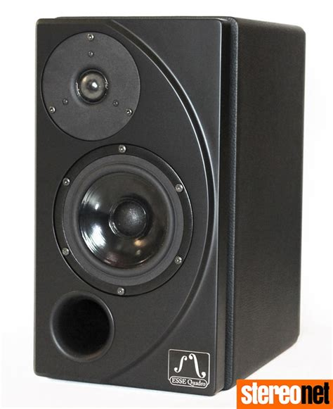 esse quadro luna  bookshelf speakers  black finish