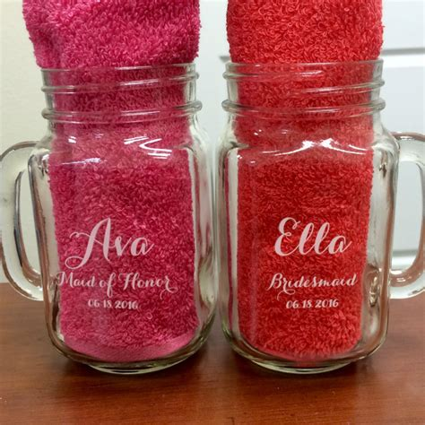 Jar Bridal Shower Favors by Bridal Shower Favors Personalized Jars Wedding Shower