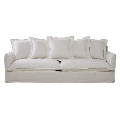 divani in lino divano bianco in lino slavato 5 posti barcelone maisons