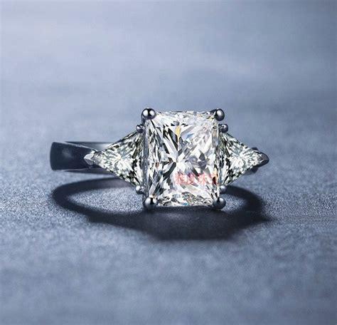 popular trillion cut engagement rings buy cheap