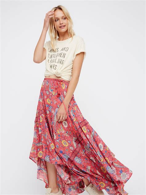 9 Gorgeous Maxi Skirts by Lyst Free Lovebird Half Moon Maxi Skirt