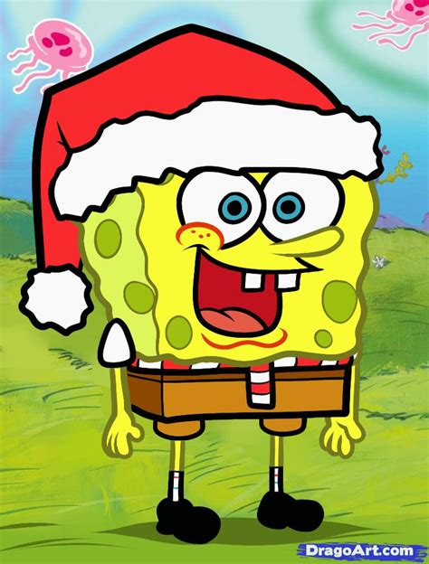 how to draw christmas spongebob christmas spongebob step