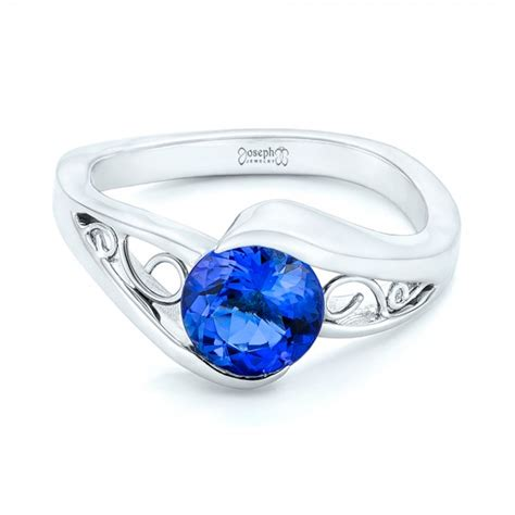 custom solitaire tanzanite engagement ring 102858
