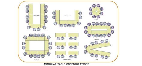 meeting room table layout modular table configurations meeting room board room