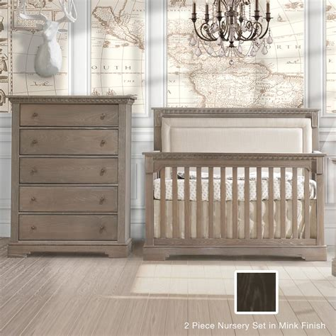 Convertible Crib And Dresser Set by Natart Ithaca 2 Nursery Set 4 In 1 Convertible Crib
