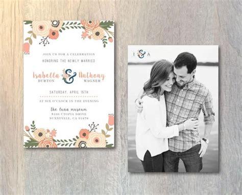 wedding invitations with monograms diy rustic wedding reception invitation card photo wedding invitation floral monogram invitation