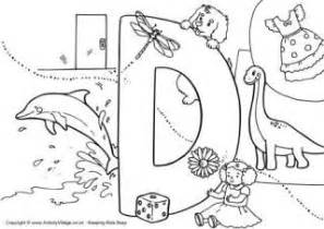 colors starting with d letter d colouring pages