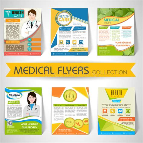 Collection Of Medical Flyers Templates And Banners Stock Image Image 53418253 Health Care Flyer Template Free