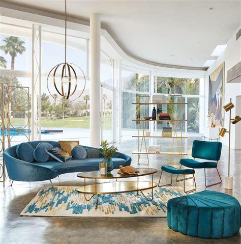 peacock blue velvet vintage armchair  footrest bayside
