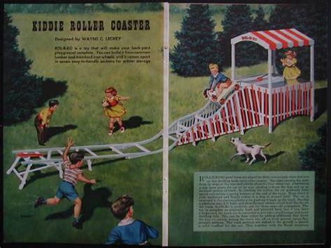 how to build a backyard roller coaster backyard roller coaster vintage 1950 how to build plans ebay