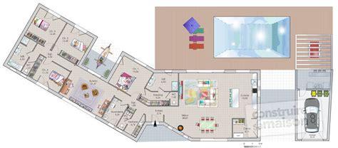 Attrayant Plan Maison Avec Jardin Interieur #2: plan-maison-plain-pied-meuble-rdc-16598.jpg
