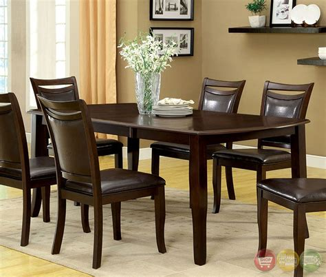Casual Dining Sets Woodside Contemporary Cherry Casual Dining Set With