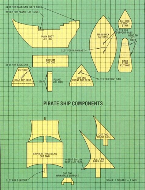 pirate ship template for build a cardboard pirate ship do it yourself