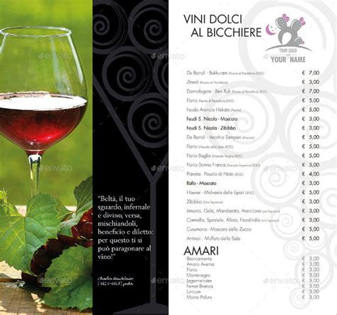 wine brochure template 25 wine brochure templates free psd ai eps format