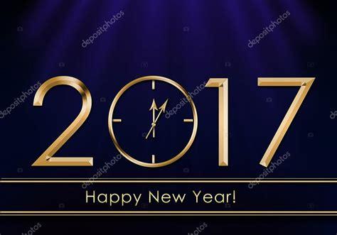 feliz a 241 o nuevo 2017 a 241 o nuevo reloj foto de stock
