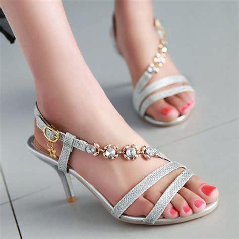 Sandalen Zur Hochzeit by Kaufen Gro 223 Handel Gold Hochzeit Sandalen Aus China