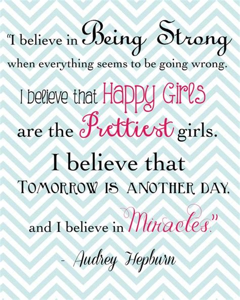 printable audrey hepburn quotes happy girls are the prettiest audrey hepburn quote