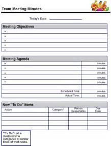 team meeting minutes sample page