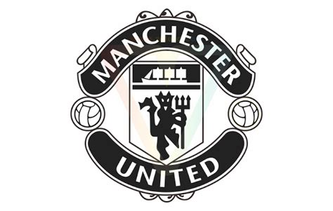 Manchester United White manchester united logo black and white vector www