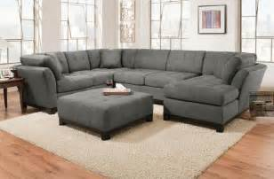 Corinthian Sectional Sofa Corinthian Loxley Charcoal Right Side Facing Chaise Sectional Great American Home Store Sofa