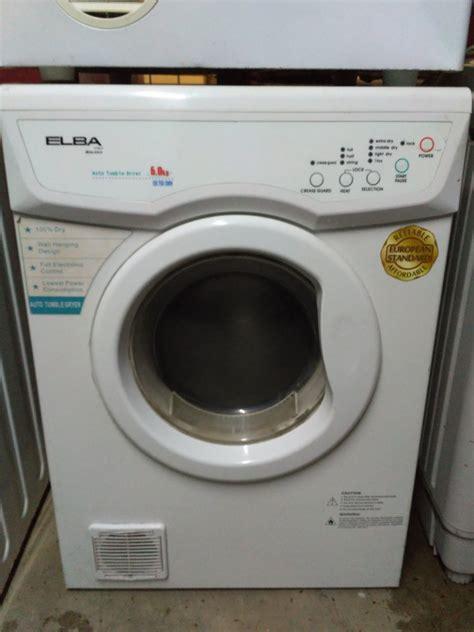 Mesin Cuci Gas jual mesin pengering pakaian laundry elba italy 6kg sudah