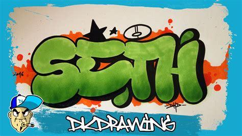 draw graffiti names seth  youtube