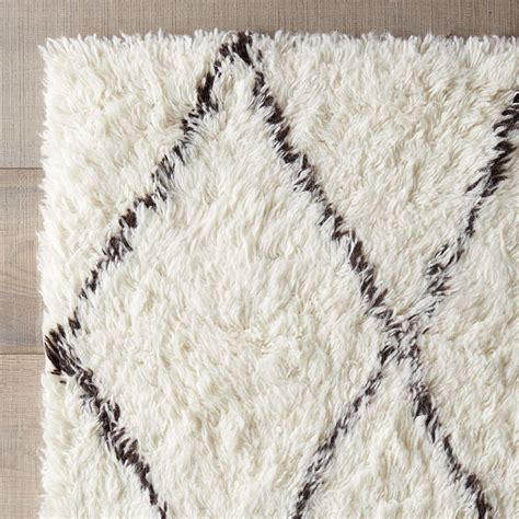 Brown And White Area Rug Simonds White Brown Shag Area Rug Reviews Allmodern