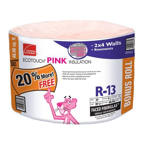 owens corning r 13 kraft faced insulation batt 15 in x 93