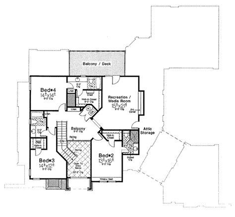 upper floor plan european style house plan 4 beds 3 5 baths 4237 sq ft