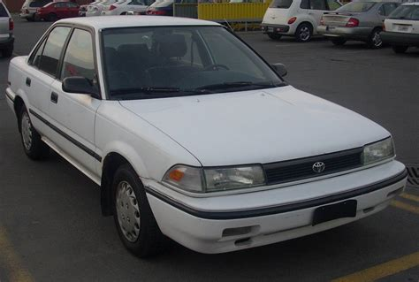Toyota Corolla Lease Zero Toyota Corolla 2 0 1991 Technical Specifications