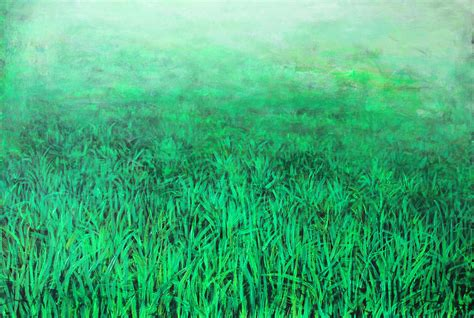 green grass painting by bronzini