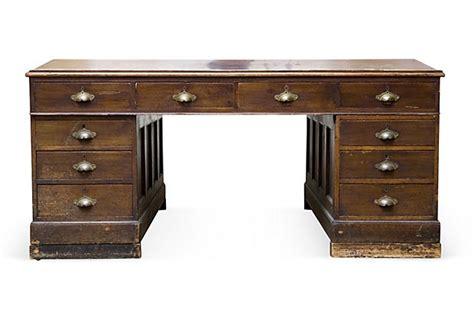 2 Sided Desk by Vintage 2 Sided Desk
