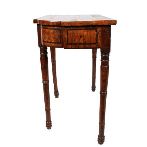 Yew Side Table Antique Side Table Regency Yew Wood Side Table
