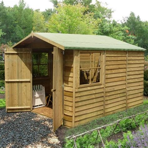Sheds Pressure Treated by Shire Overlap Apex Pressure Treated Shed 7x10 Garden