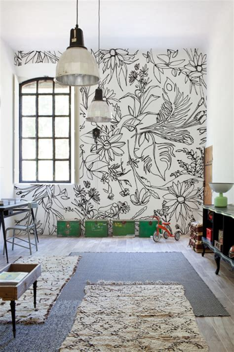 Painted Wall Murals monet and have fun drawing some summer blossoms via wall deco