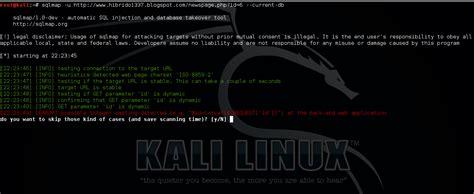tutorial como usar kali linux como usar sqlmap kali linux