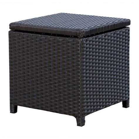 target outdoor ottoman newport outdoor wicker storage ottoman espresso