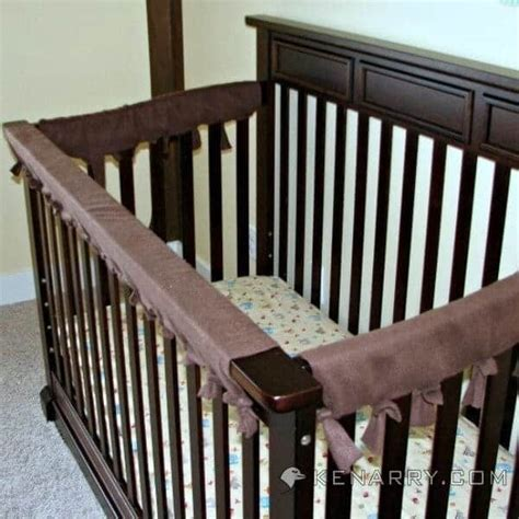 Crib Rail by Crib Rail Cover Easy Idea With No Sewing Required