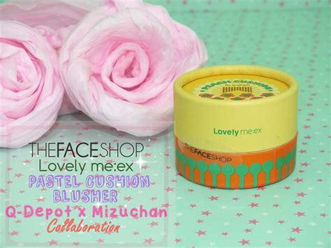 Thefaceshop Lovely Me Ex Pastel Cushion Blusher 1 mizuchan review thefaceshop lovely me ex pastel cushion blusher x collab with q depot