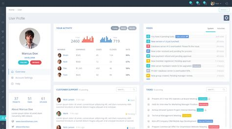 bootstrap profile layout metronic the best selling bootstrap admin dashboard template