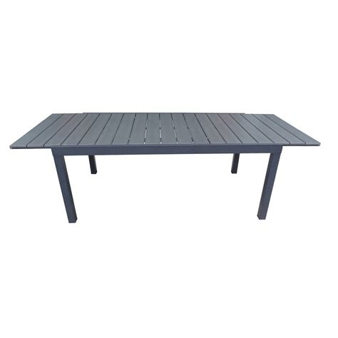 table jardin en table de jardin naterial pratt rectangulaire gris leroy merlin