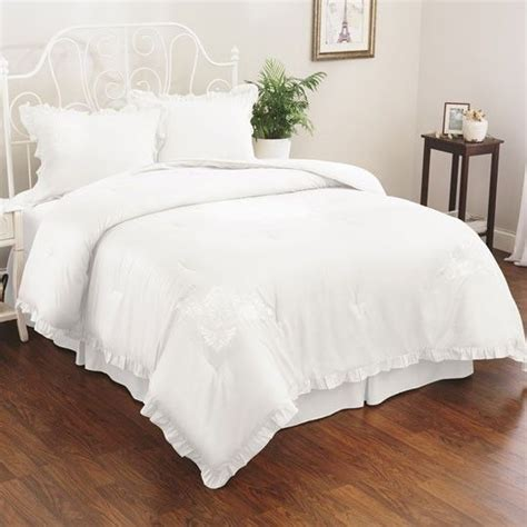 eyelet comforter set white 100 00 home decor