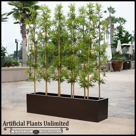Planters For Bamboo by Modern Fiberglass Planter And Bamboo Artificial Plants