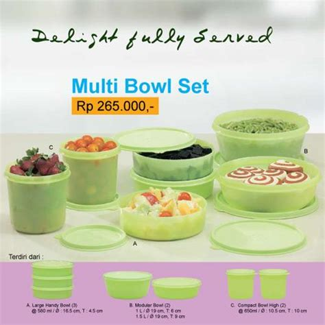 Tupperware Multi Bowl Set multi bowl set rp 265 000 be bu
