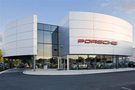mercedes showroom exterior porsche of silver spring penney design group